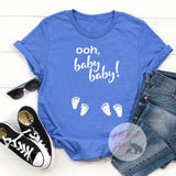 Ooh, baby baby! Twins Pregnancy Announcement Gender Reveal Tee Shirt - Elliefont Styles