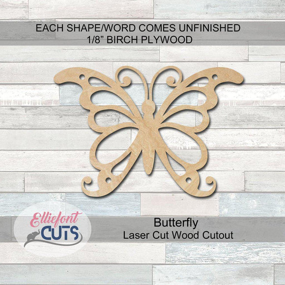 Butterfly Wood Cutouts - Elliefont Styles