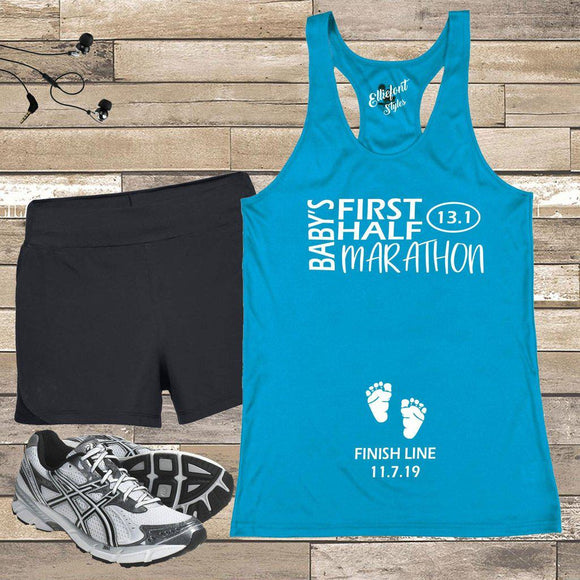Baby's First Half Marathon 13.1 Pregnancy Announcement Shirt - Elliefont Styles