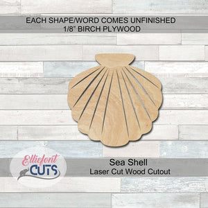 Shell Wood Cutouts