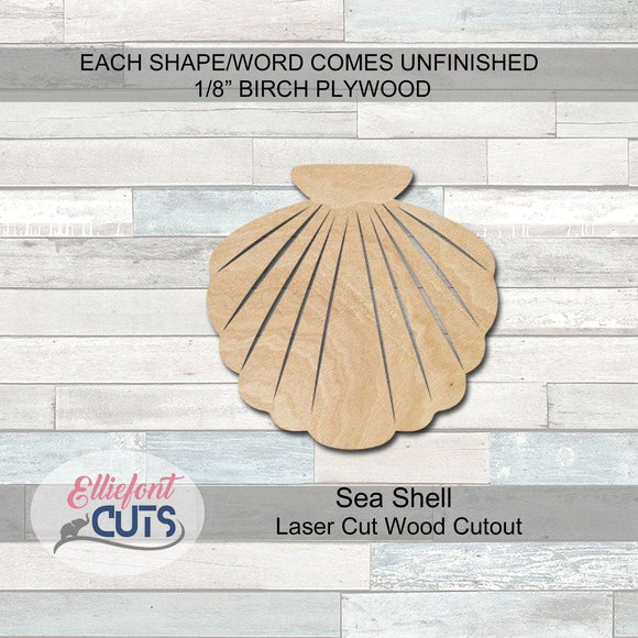 Shell Wood Cutouts - Elliefont Styles