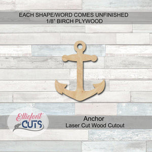 Anchor Wood Cutouts - Elliefont Styles