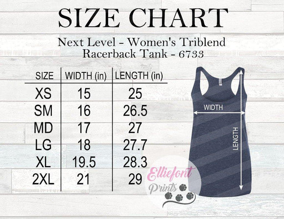 Next Level 6733 Size Chart - Elliefont Styles