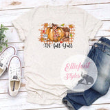 Its Fall Yall Shirt Cute Fall Tee Fall Autumn Thanksgiving Shirt Boots Scarf Pumpkin - Elliefont Styles