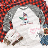 Gnome Bah Humbug Shirt Raglan Baseball Tee Shirt Christmas Holiday - Elliefont Styles