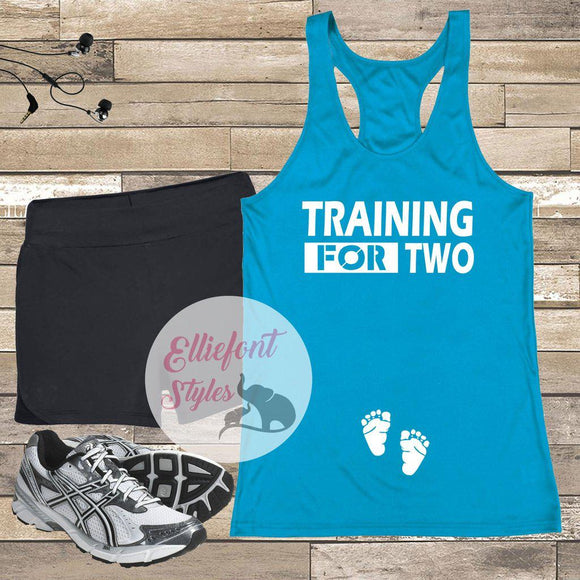 Training For Two Pregnancy Announcement Shirt