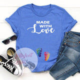 Made With Love LGBT Pregnancy Announcement Shirt