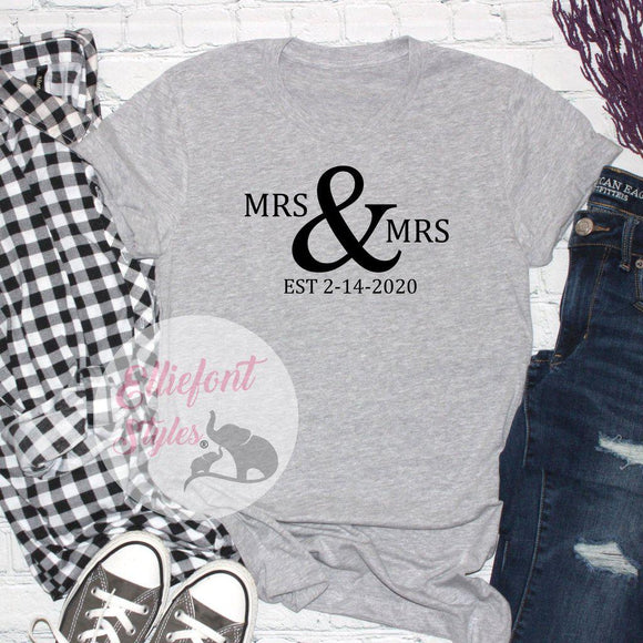Mrs. and Mrs. Shirts