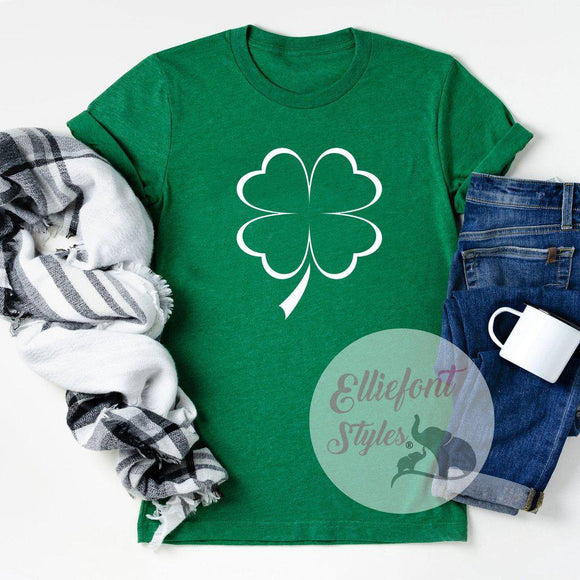 Four Leaf Clover Shirt - Elliefont Styles
