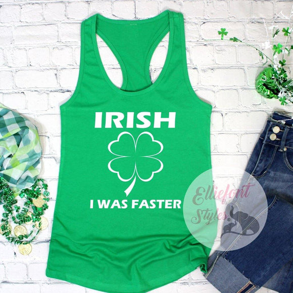 St patrick day race tank