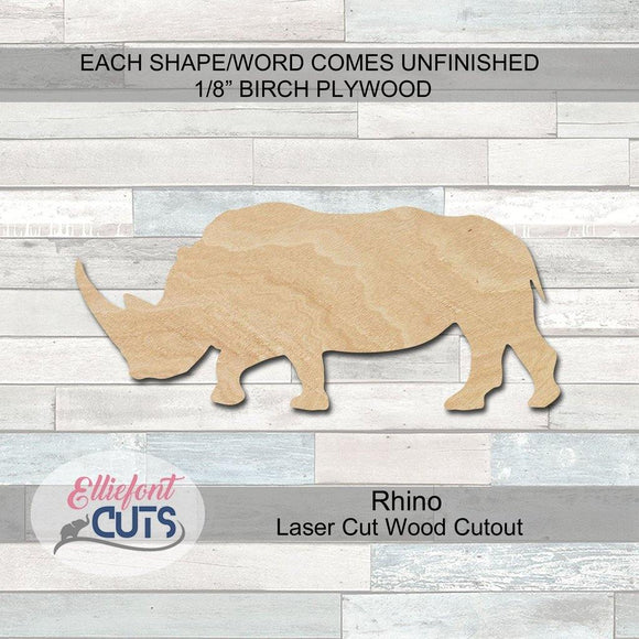 Rhino Wood Cutouts
