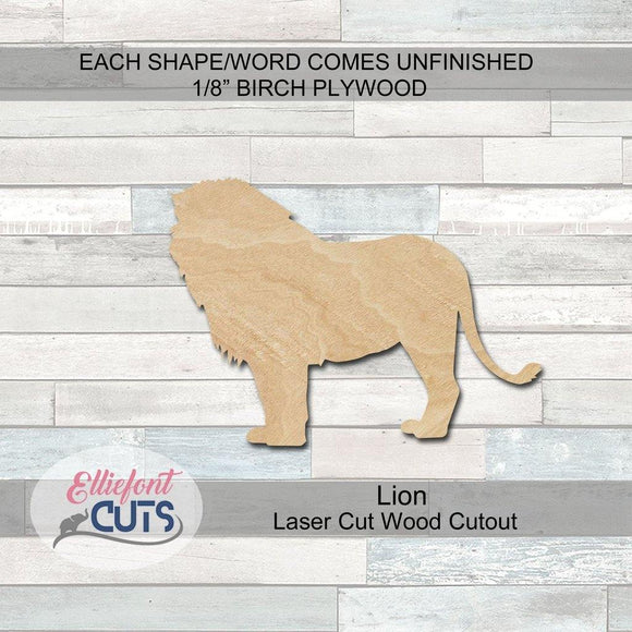 Lion Wood Cutouts
