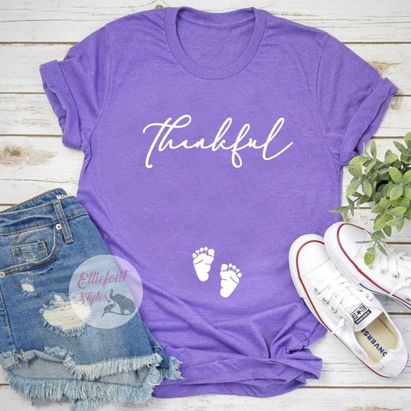 Thankful Pregnancy Announcement Shirt - Elliefont Styles