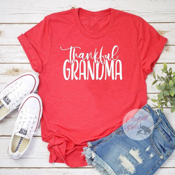 thankful grandma shirt