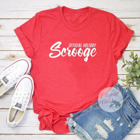 offical holiday scrooge shirt