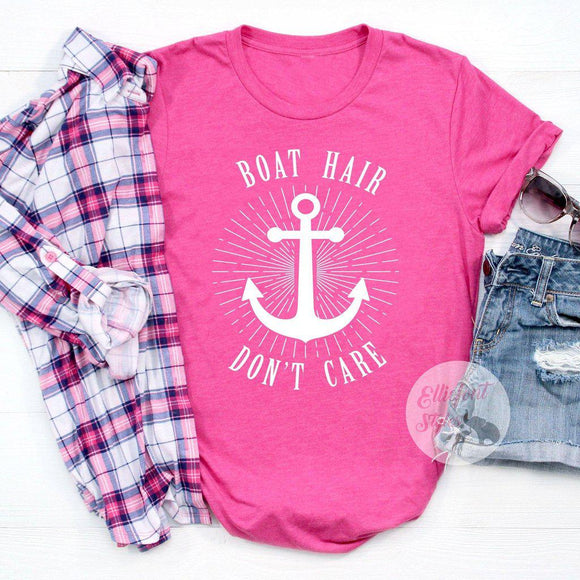 boat hair don't care shirt