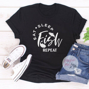 eat sleep fish repeat shirt