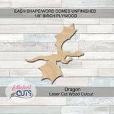 Dragon Wood Cutouts - Elliefont Styles