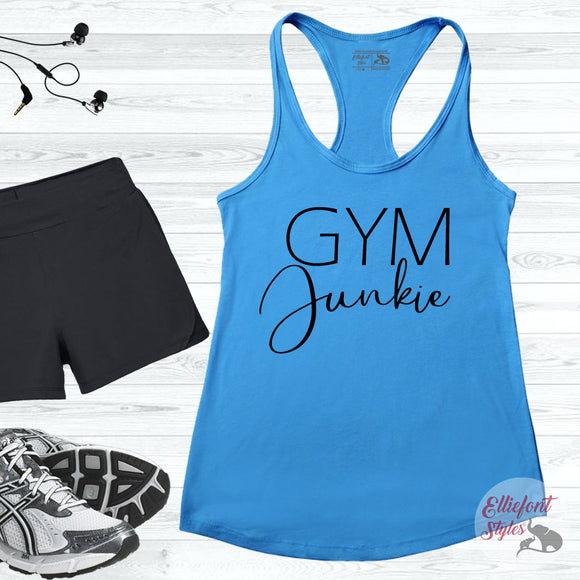 gym junkie workout tank
