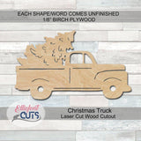 Christmas Truck Wood Cutouts - Elliefont Styles