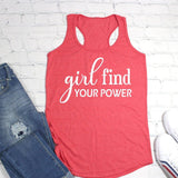 Girl Find Your Power Workout Tank Top