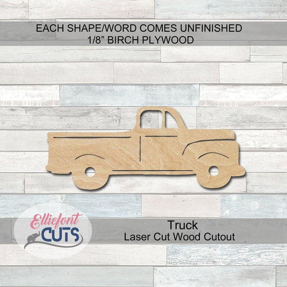 Vintage Truck Wood Cutouts - Elliefont Styles