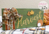 Harvest Wood Sign Fall Thanksgiving Mantle Decorations - Elliefont Styles