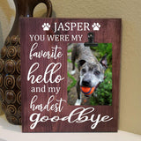 Pet Memory Wooden Sign With Picture - Elliefont Styles