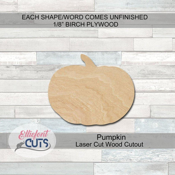 Pumpkin Wood Cutouts - Elliefont Styles
