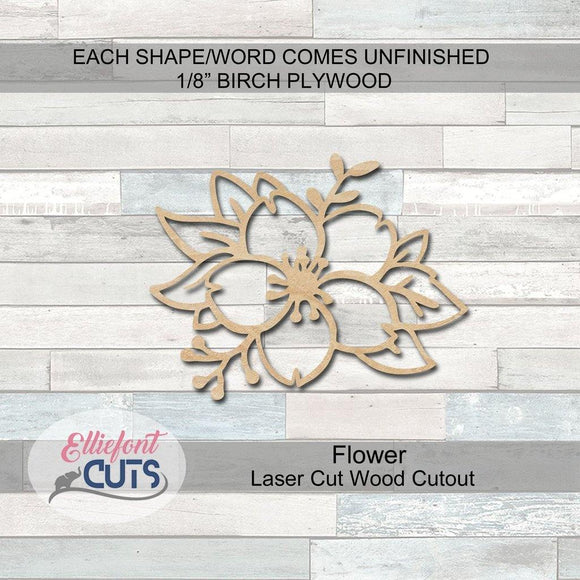 Floral Wood Cutouts