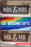 MRS. & MRS. Personalized Wood Sign - Elliefont Styles