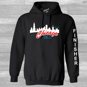 Chicago Marathon 26.2 Finisher Pull Over Hoodie - Elliefont Styles
