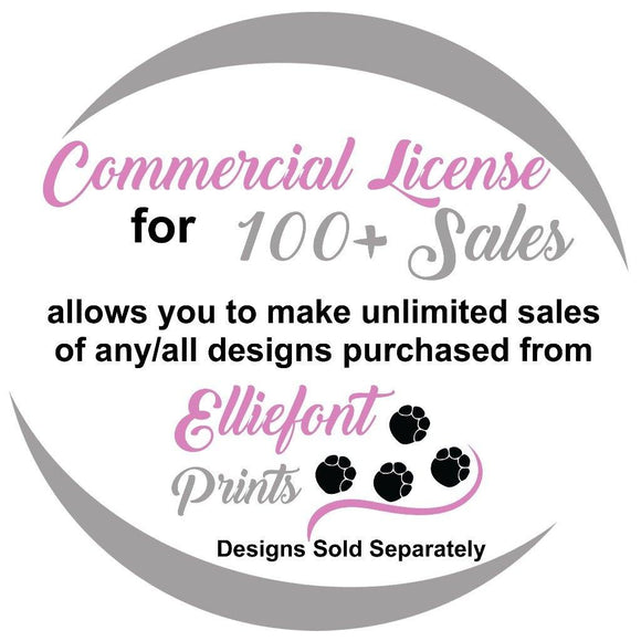 Commercial license for 100+ Sales - Elliefont Styles