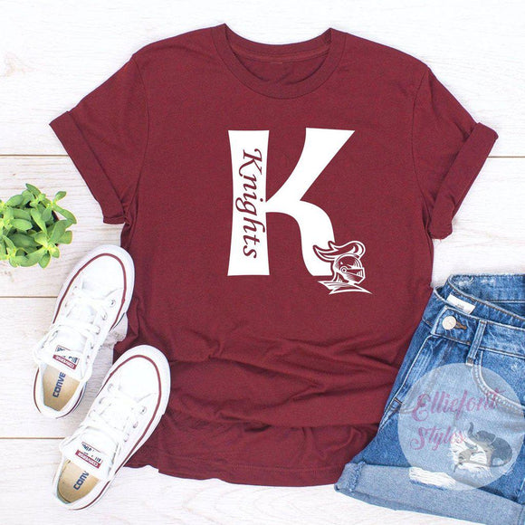 Knights K Knight Head School Pride Spirit Shirt - Elliefont Styles