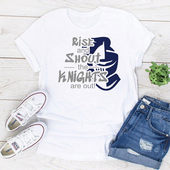 Rise And Shout The Knights Are Out School Pride Spirit Shirt - Elliefont Styles
