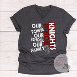Our Town Our School Our Family School Pride Spirit Shirt - Elliefont Styles
