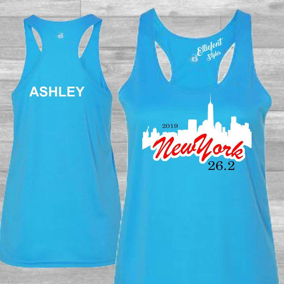 personalized new york city marathon tank