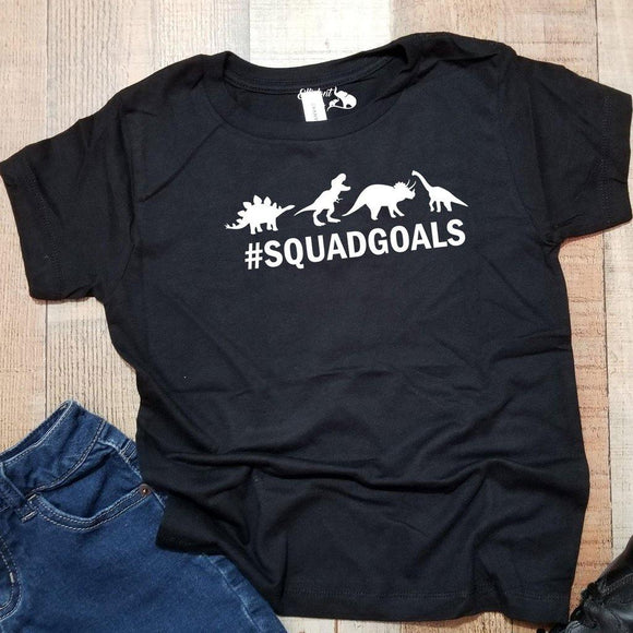 Dinosaur Squad Goals Kids Unisex Graphic Shirt | Animal Shirt | Funny Kids Shirt - Elliefont Styles