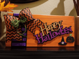 Happy Halloween Wood Sign | Mantle Decorations - Elliefont Styles