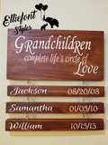 Grandchildren Complete Life's Circle Of Love Sign