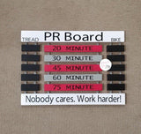 Cycling PR Board Spin Bike Output Display | Personal Record © - Elliefont Styles