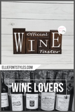 Official Wine Taster | Stacker Wooden Block Set | Wood Shelf Blocks | Solid Wood | Unique Gift Ideas | Anniversary or Christmas Gift | Wino - Elliefont Styles