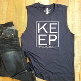 Keep Pedaling Unisex Muscle Tank