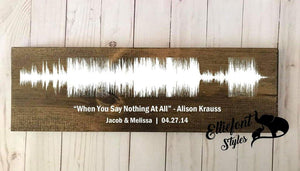 LGBT Wedding Song Sound Wave Wood Sign | Wedding Keepsake Gift | Gay Anniversary Gift