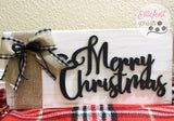 black and white buffalo plaid sign