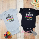 My Daddies PRIDE and joy Infant One Piece / Two Dads Bodysuit / Proud Children / 2 dads / LGBT Gay / Baby shower gift / Newborn Gift - Elliefont Styles
