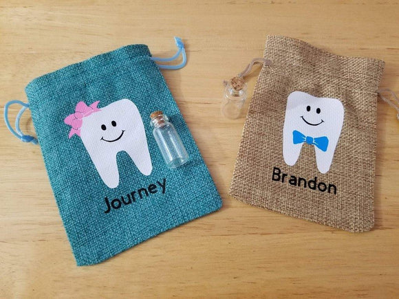 Personalized tooth fairy bag - Tooth fairy pillow - Elliefont Styles