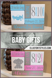 Baby Birth Stats Wooden Block Set | Best Personalized Baby Gift Keepsake - Elliefont Styles