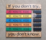 Cycling PR Display Board Primary Colors Personal Record Sign ©