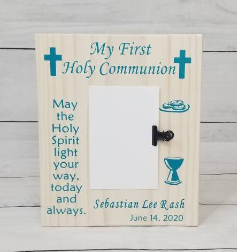 Communion Gifts Wood Sign With Picture